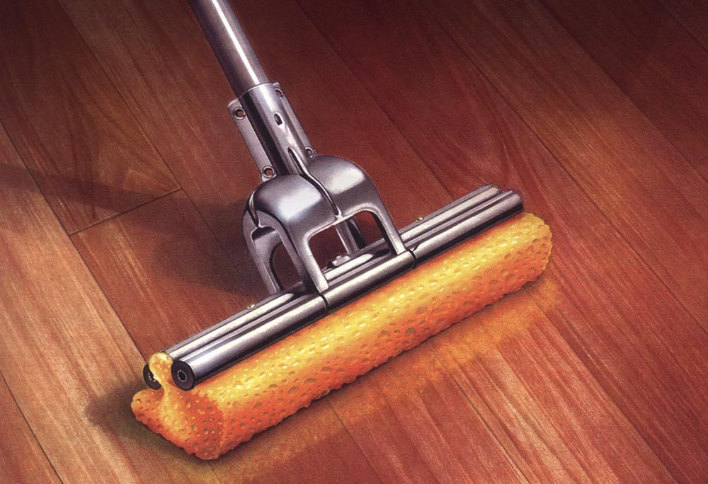 Painted Illustration Other mop wood floor