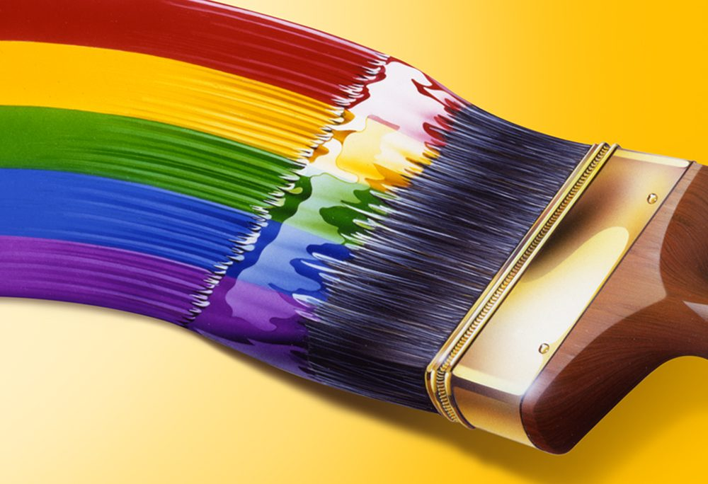 Painted Illustration Other rainbow paintbrush
