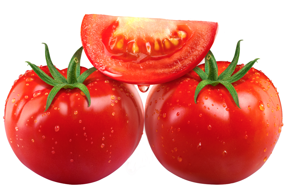 tomatoes whole and slice, drops, leaves